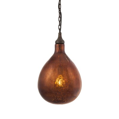 Salina 1-Light Mini Pendant Shade Color: Bronze