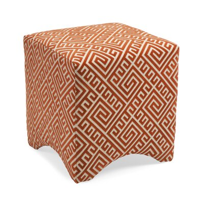 Marisa Graphic Ottoman Upholstery: Orange