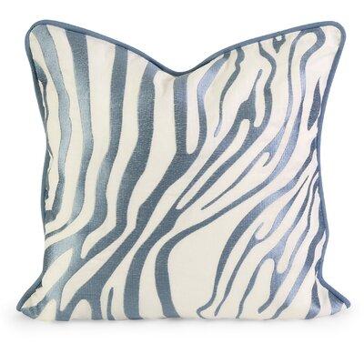 Bahari Embroidered Linen Throw Pillow Color: Light Blue