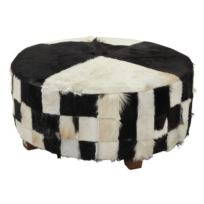 Hide Large Ottoman Color: Black/White