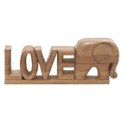 Love Elephant Letter Block
