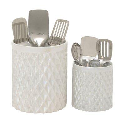 2 Piece Kitchen Utensil Holder Set 93675