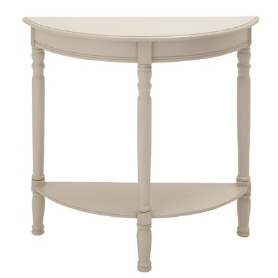 Nicole Console Table Finish: White