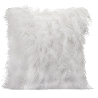 Nikki Chu Faux Fur Throw Pillow Color: White