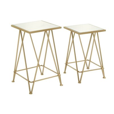 2 Piece Attractive End Table Set