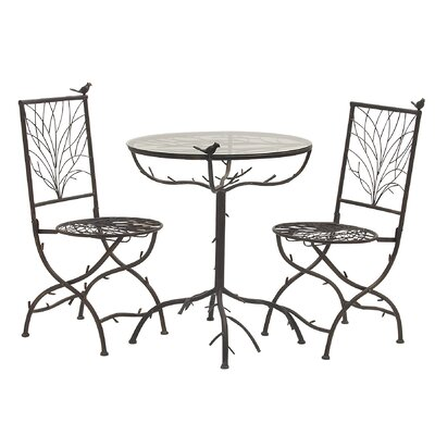 3 Piece Simply Too Cool Pub Table Set Finish: Black