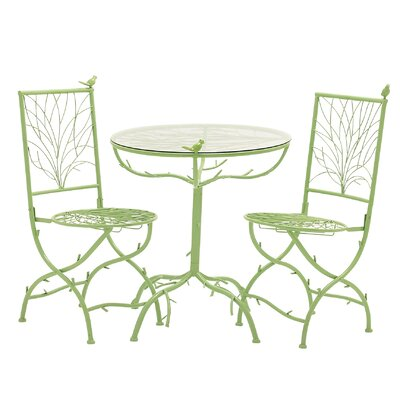 3 Piece Simply Too Cool Pub Table Set Finish: Green