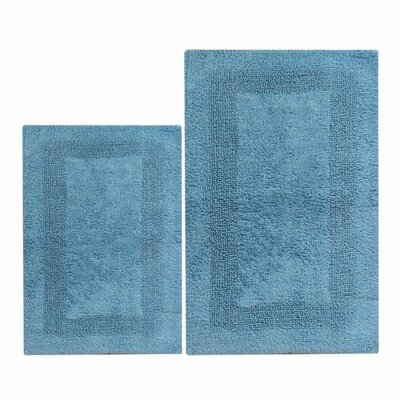 Chardin Arizona 2 Piece Reversible Bath Set Color: Milk Blue