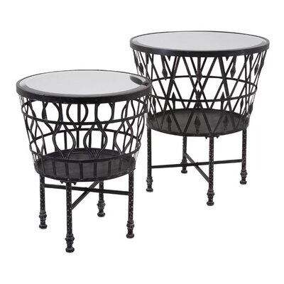 Zaria Drum 2 Piece End Table Set