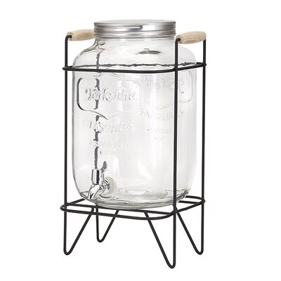 Nantucket Glass Drink 2-Piece Beverage Dispenser Set IMX-95540