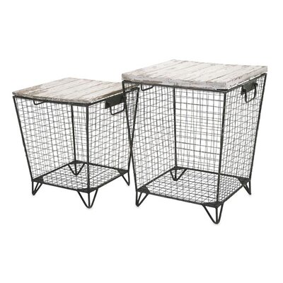 Ava Cage 2 Piece End Table Set
