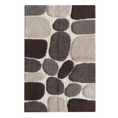 Chardin Pebble Bath Rug Color: Brown Multi-Color