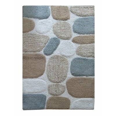 Chardin Pebble Bath Rug Color: Gray Multi-Color