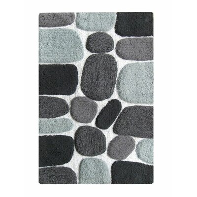 Chardin Pebble Bath Rug Color: Black Multi-Color