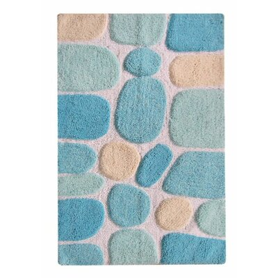 Chardin Pebble Bath Rug Color: Blue Multi-Color