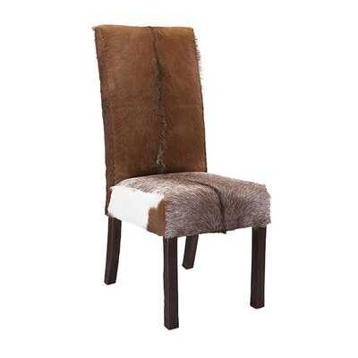 Andros Animal Hide Side Chair