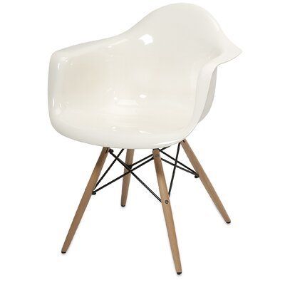 Arm Chair Color: Arturo White