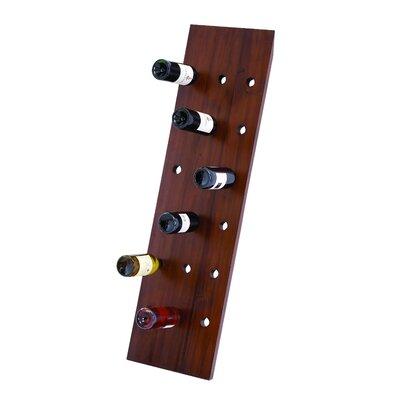 18 Bottle Hanging Wine Bottle Rack Finish: Dark Wood
