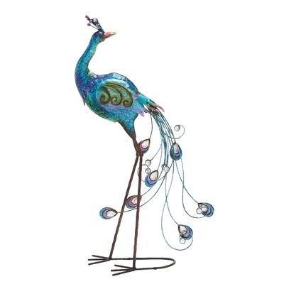 Metal Peacock Figurine 55223