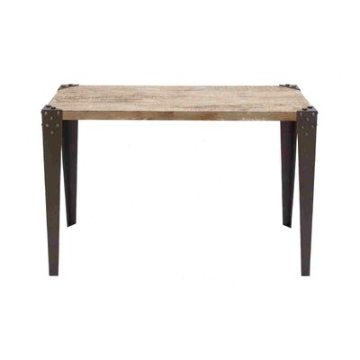Credit for Metal Wood Console Table...