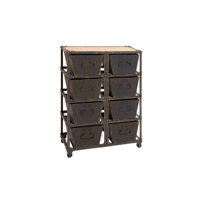 Woodland Imports Metal Wood Cabinet With 8 Racks at Sears.com