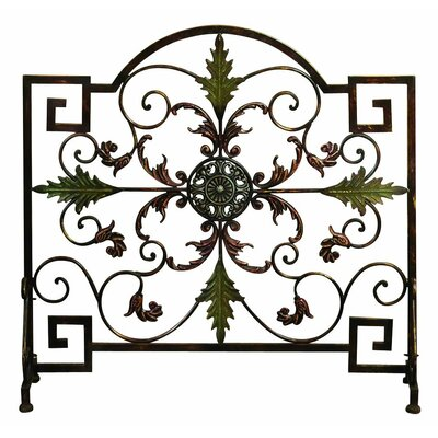 Single Panel Metal Fireplace Screen 21634