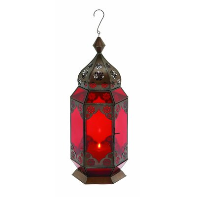 Woodland Imports Traditional Metal Lantern 30893