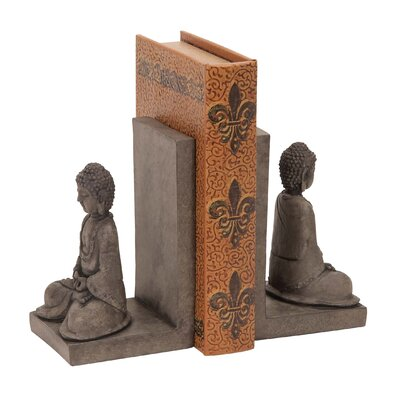 Woodland Imports Library Polystone Buddha Book End (Set of 2) at Sears.com