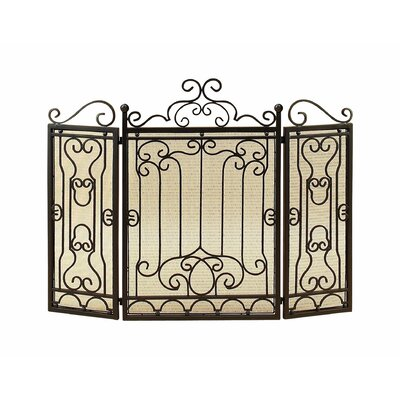 3 Panel Metal Fireplace Screen 90569