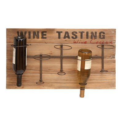 Wine Tasting 5 Bottle Wall Mounted Wine Rack