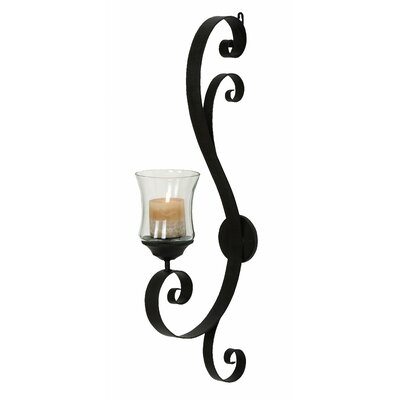 IMAX Galicia Embossed Metal and Glass Wall Sconce | Wayfair