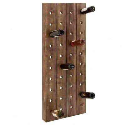 No credit check financing 40 Bottle Wall Mounted Wine Rack...