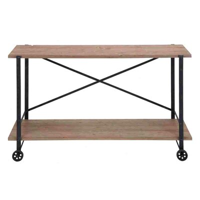 No credit financing Accent Metal Wood Console Table...