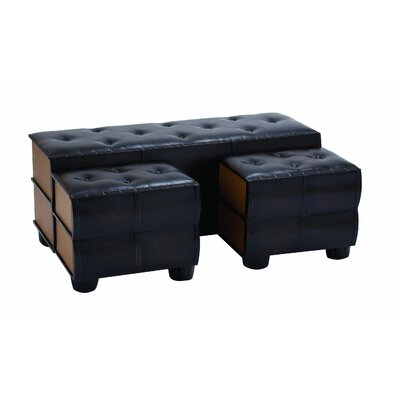 Chic and Modern Leather Ottoman