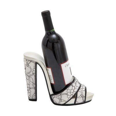 Yuriko Swirl Print Strap Shoe Tabletop Wine Bottle Rack