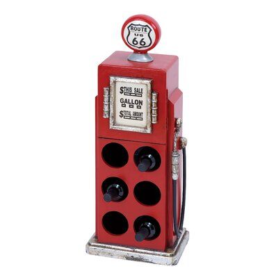 Gas Pump 6 Bottle Floor Wine Rack