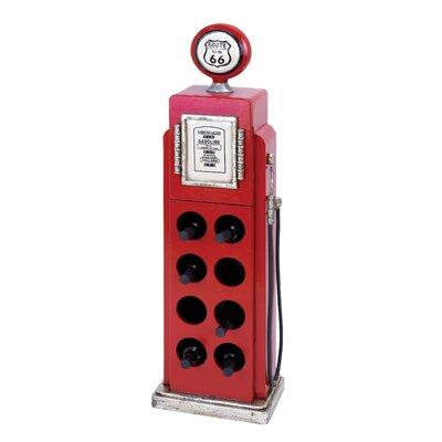 Gas Pump 8 Bottle Floor Wine Rack