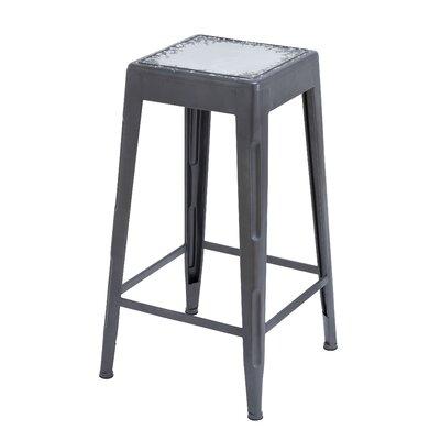 30 Bar Stool Upholstery: White