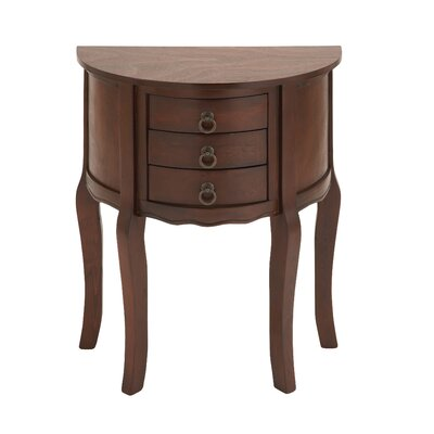 3 Drawer Nightstand Color: Brown