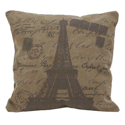 Cotton Throw Pillow Color: Deep Brown