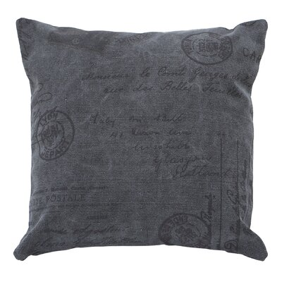 Cotton Throw Pillow Color: Gray