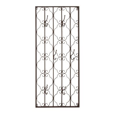 Elegant Metal Wall Hook Panel