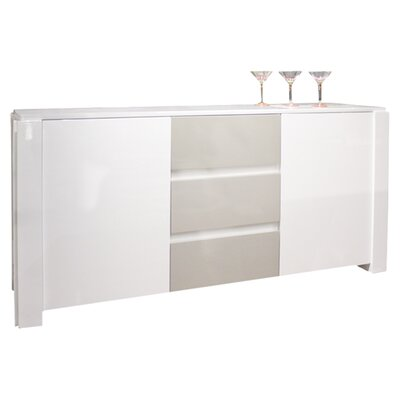 Natalia Sideboard Color: White Lacquer