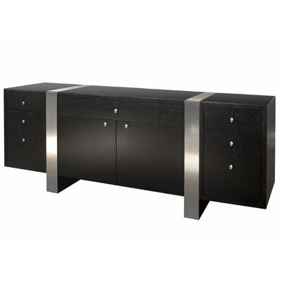 Nero Credenza Finish: Black/Brown