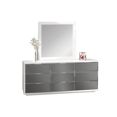 Mera 9 Drawer Dresser with Mirror