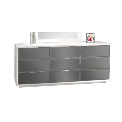 Mera 9 Drawer Standard Dresser Color: White