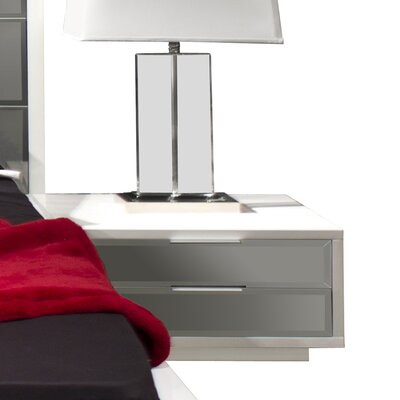 Mera 2 Drawer Nightstand Color: White