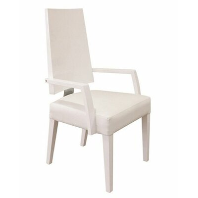 Rocco Arm Chair Finish: White