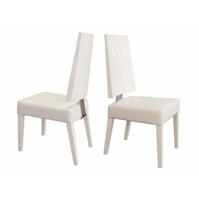 Rocco Side Chair Finish: White