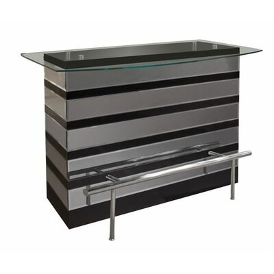 Mera Bar Counter Color: Black